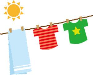 夏の洗濯物