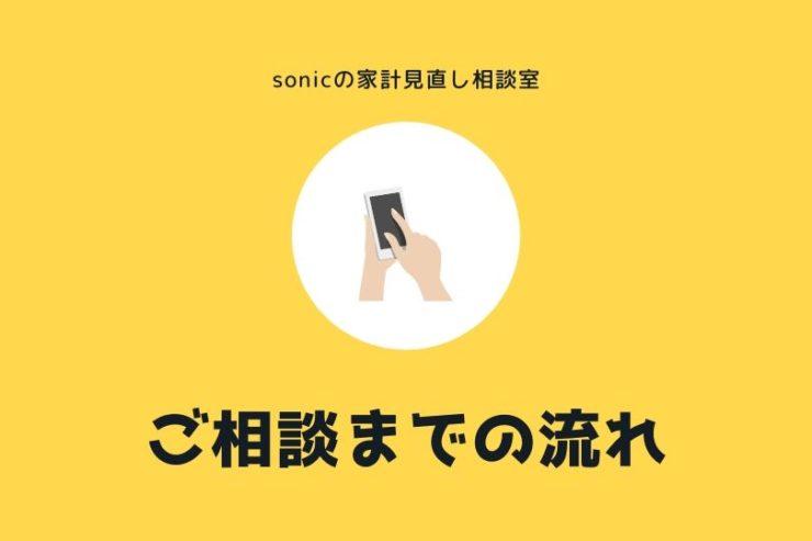 【sonicの家計見直し相談室】お申し込みからご相談までの流れを説明します
